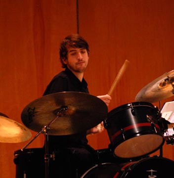 Adam Everett on drums